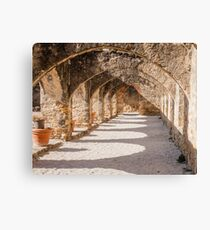 Shadows in the San Jose Mission Convento Canvas Print