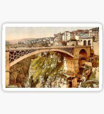 The Great Bridge, Constantine, Algeria ca.1899 Sticker