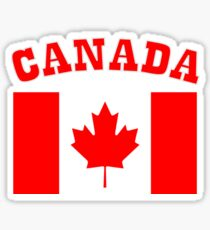 Patriotic I Am Canadian Maple leaf Canada Flag Sticker