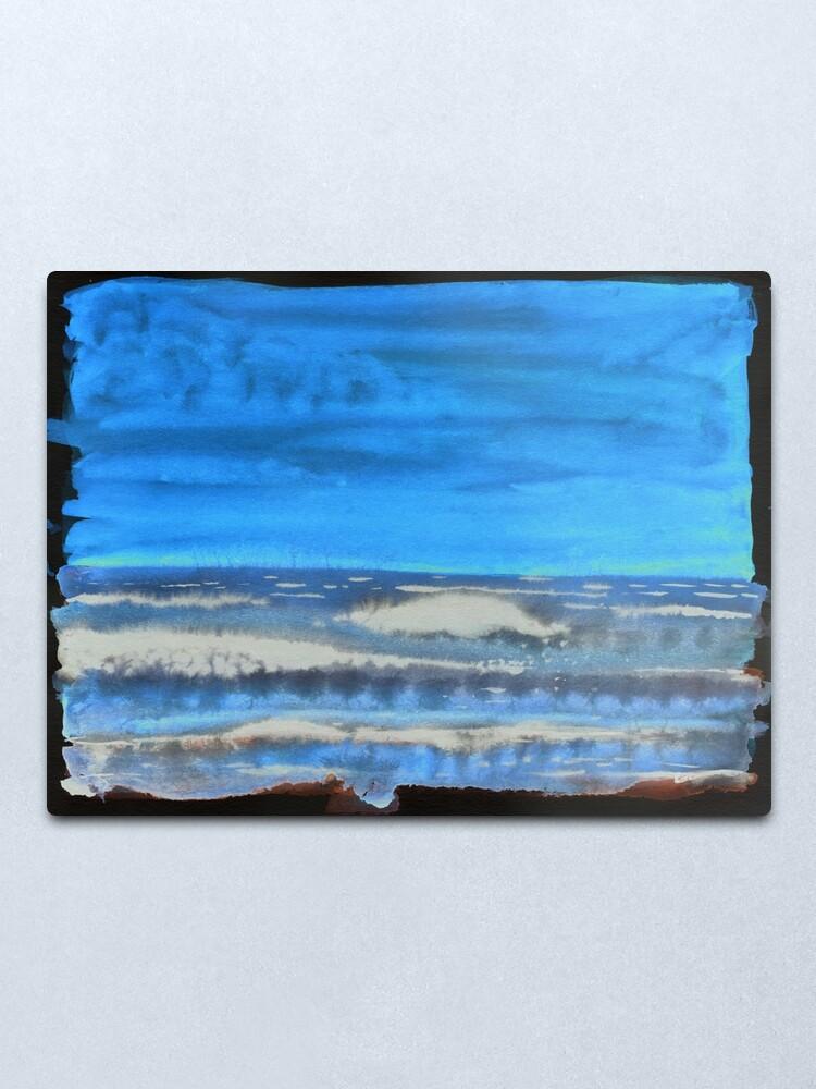 Alternate view of Peau de Mer • Sea's Skin • Piel de Mar Metal Print