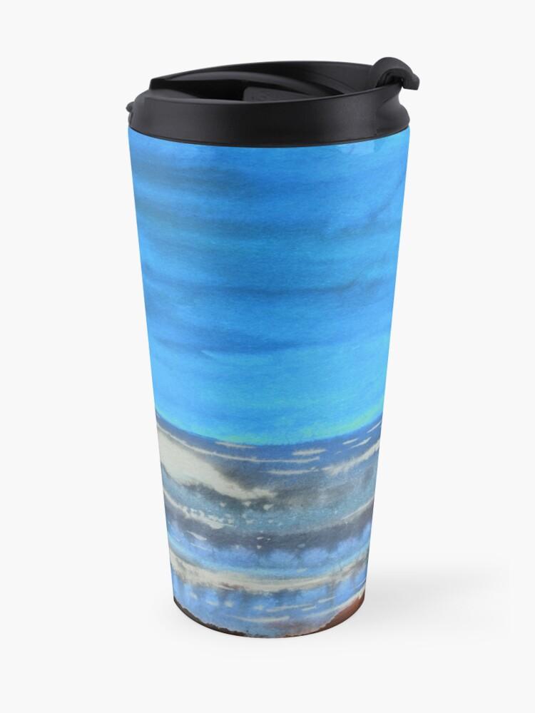 Alternate view of Peau de Mer • Sea's Skin • Piel de Mar Travel Mug