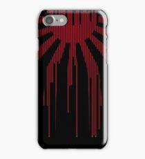 Black modern Japan Flag iPhone Case/Skin