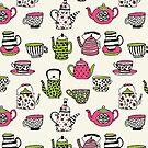 Teekanne Teatime britischer Teepartyteekessel andrea Lauren von Andrea Lauren
