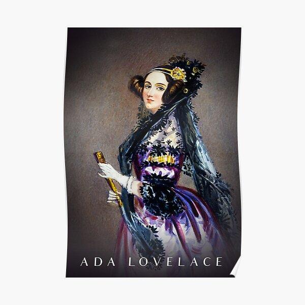 Ada Lovelace Portrait Female Coder Programmer Scientist Poster