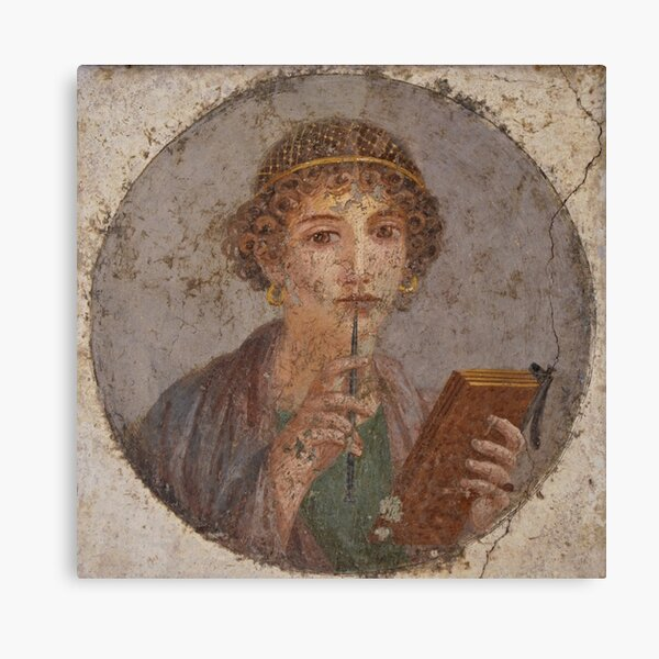 Souvenir from Pompeii - Saffo is thinking Canvas Print