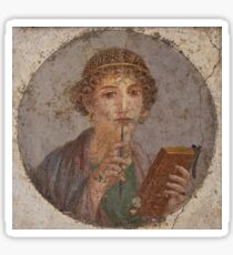 Souvenir from Pompeii - Saffo is thinking Sticker