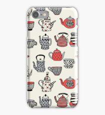Teapot teatime british tea party tea kettle andrea lauren thermos mug tea cups teas iPhone Case/Skin