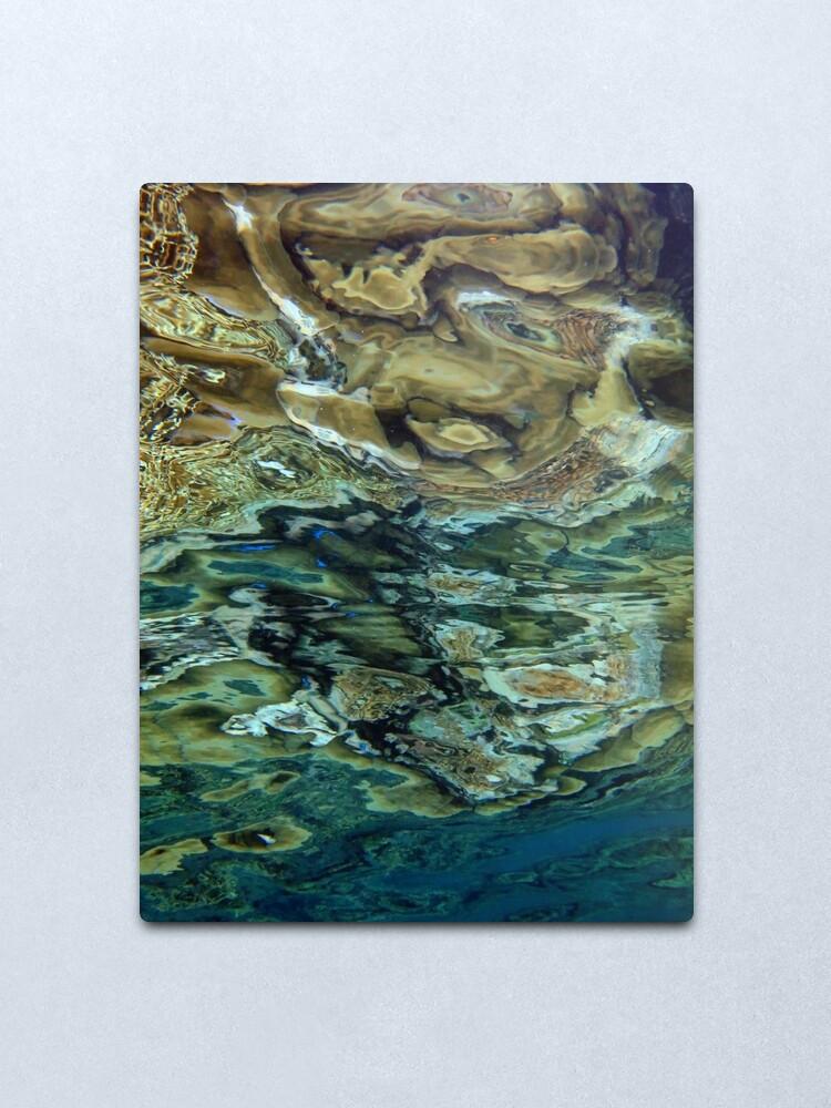 Alternate view of Reeflections at Sanaroa Metal Print