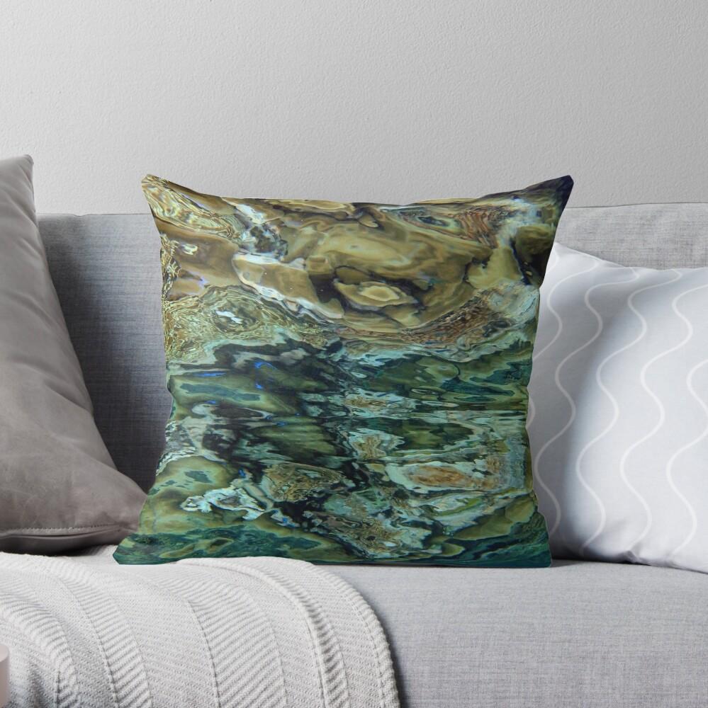 Reeflections at Sanaroa Throw Pillow
