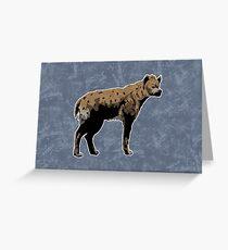 Hyena Greeting Card
