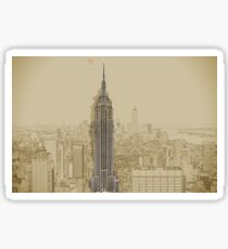 Empire State Building Mixed Media Sticker