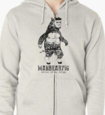 MANBEARPIG South Park Mythical Beast Funny Vintage Zipped Hoodie
