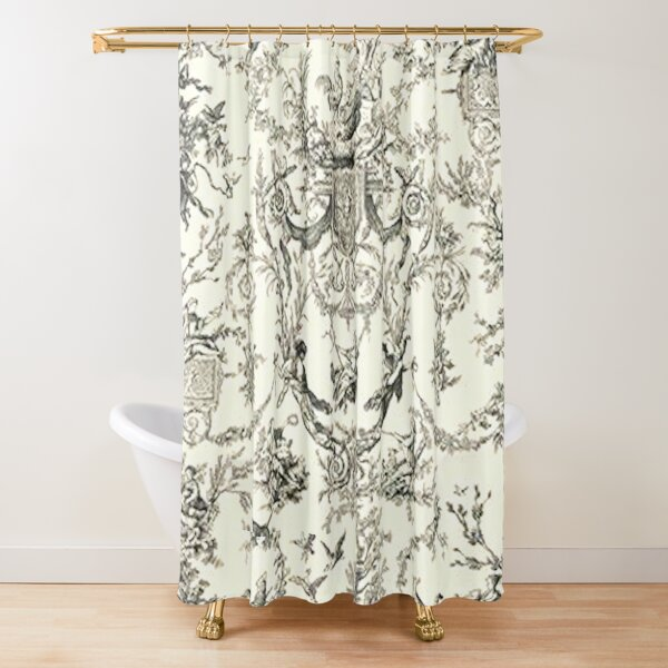 Heavenly French Toile Shower Curtain