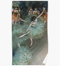 Edgar Degas - Swaying Dancer. Degas- Dancer in Green ,  show, ballet, dancers, ballerina, ballet dancer, dance, impressionism, music, opera, tutu , dress, beauty, love, girls, party Poster