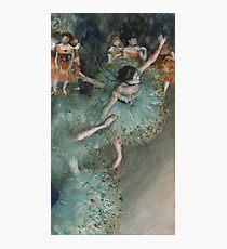 Edgar Degas - Swaying Dancer. Degas- Dancer in Green ,  show, ballet, dancers, ballerina, ballet dancer, dance, impressionism, music, opera, tutu , dress, beauty, love, girls, party Photographic Print