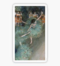 Edgar Degas - Swaying Dancer. Degas- Dancer in Green ,  show, ballet, dancers, ballerina, ballet dancer, dance, impressionism, music, opera, tutu , dress, beauty, love, girls, party Sticker