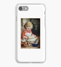 Celebrate Childhood Making Christmas Cookies Victorian Designs by Kirsten iPhone Case/Skin