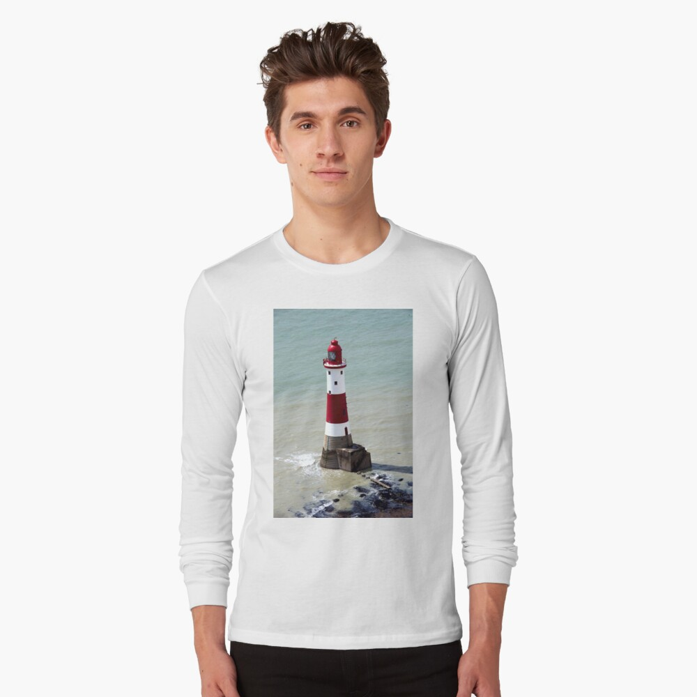 Beachy Head Lighthouse and the deep blue sea Long Sleeve T-Shirt