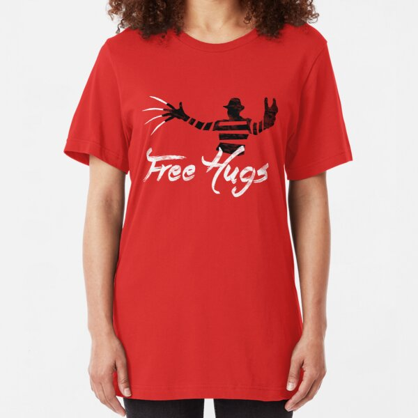 Free Hugs Freddy Slim Fit T-Shirt