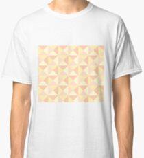 Peach Yellow Orange Pink Geometric Triangles Pattern Classic T-Shirt