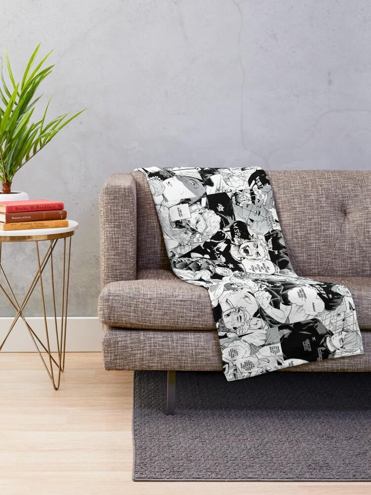 Alternate view of Miya Atsumu Manga Collage (Haikyuu) Throw Blanket