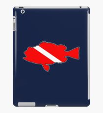 Dive flag bass fish iPad Case/Skin