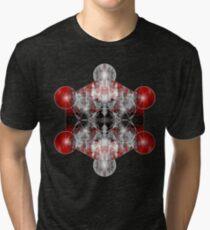 Metatron's Cube red Tri-blend T-Shirt