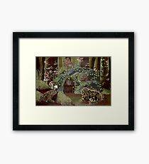 Toad Sweet Home Framed Print