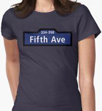 Camiseta entallada para mujer Fifth Avenue, Street Sign, New York City