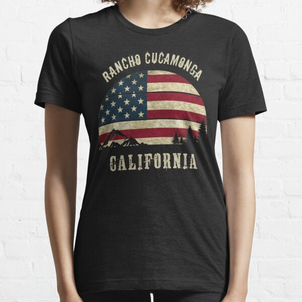 CA RANCHO CUCAMONGA USA Street Sign American flag city country gift