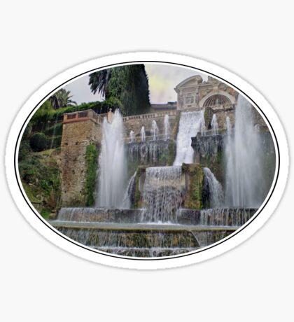 Raining up and down in Villa d'Este Sticker