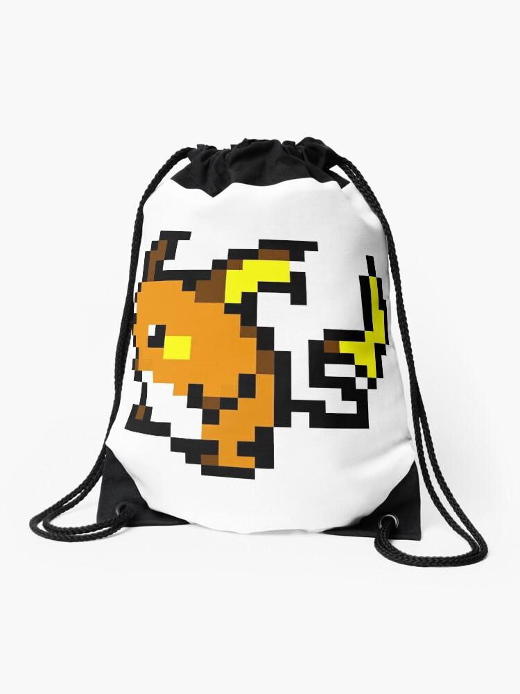 Pokemon 8 Bit Pixel Raichu 026 Drawstring Bag