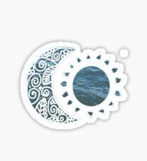 moon and sun Sticker