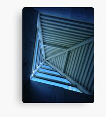 Blue Sky and Pyramid Architectural Window Canvas Print