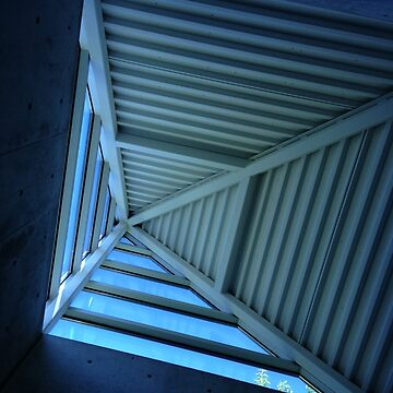 Blue Sky and Pyramid Architectural Window by abigailryder