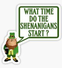 Funny Irish shenanigans Sticker
