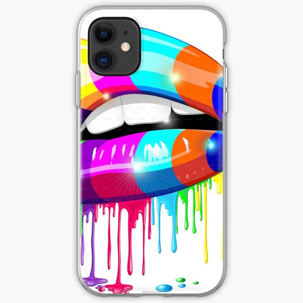 Psychedelic Lips iPhone Soft Case