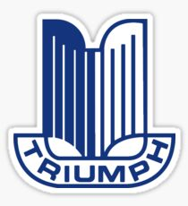 Blue Triumph Logo Sticker