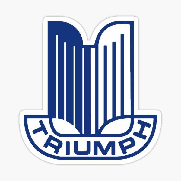 Logo Triumph bleu Sticker