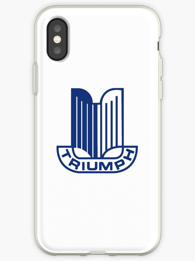 sale retailer a7d25 ab9c9 'Blue Triumph Logo' iPhone Case by JustBritish