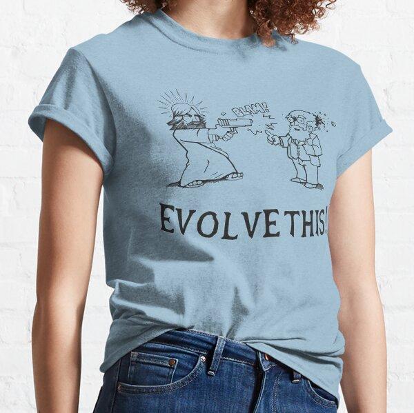 Jésus tirant sur Charles Darwin !!! T-shirt classique