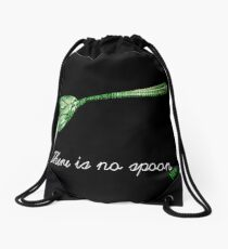 There is no spoon by neo Drawstring Bag