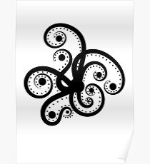 Abstract Octopus Poster