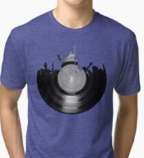 Vinyl music art 2 Tri-blend T-Shirt