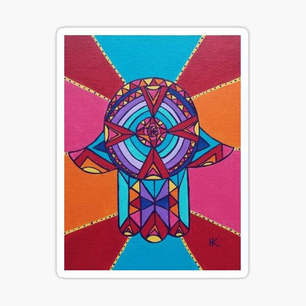 Spirit Wheel Hamsa by Harriette Knight Sticker