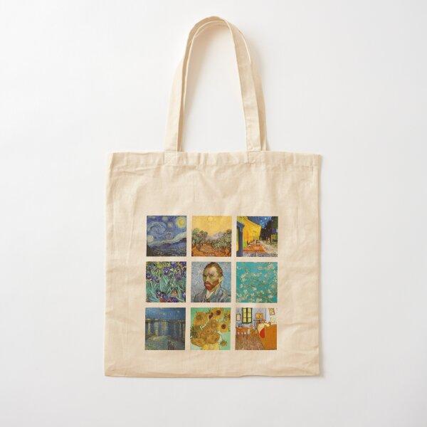 Van Gogh collage de obras de arte Bolsa de algodón