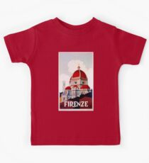 Florence Firenze 1920s Italian travel ad, duomo Kids Clothes