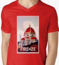 Florence Firenze 1920s Italian travel ad, duomo T-Shirt
