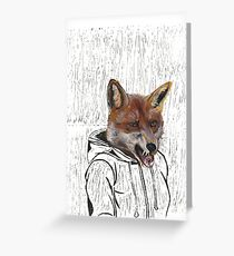 Chav Fox  Greeting Card