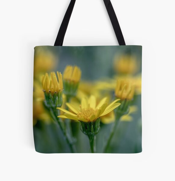 Common ragwort flowers  All Over Print Tote Bag